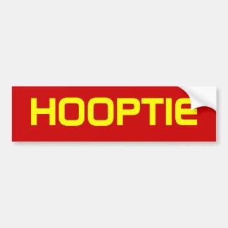 HOOPTIE CAR BUMPER STICKER