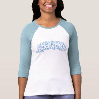 HoopWorld Gals 3/4 Sleeve Raglan - baby-blue Tees