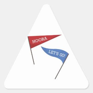 Hoora Let's Go! Triangle Sticker