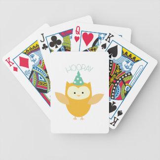 Hooray búho cartas de juego