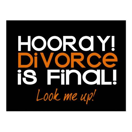 HOORAY! Divorce Announcement Cards