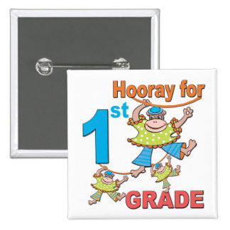 Hooray for 1st Grade Pinback Button