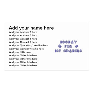 Hooray for 1st Graders Business Card Template