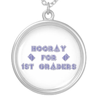 Hooray for 1st Graders Silver Plated Necklace