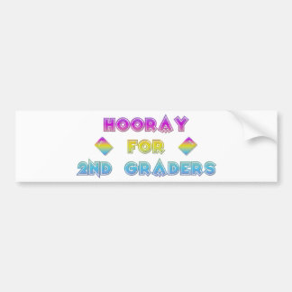 Hooray for 2nd Graders Bumper Sticker