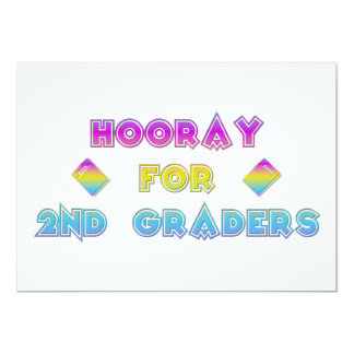 Hooray for 2nd Graders Card