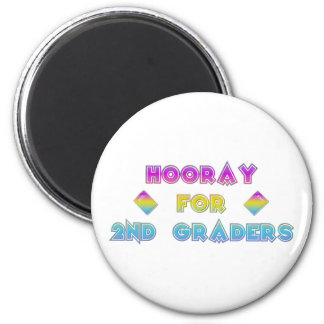 Hooray for 2nd Graders 2 Inch Round Magnet