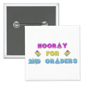 Hooray for 2nd Graders Pinback Button