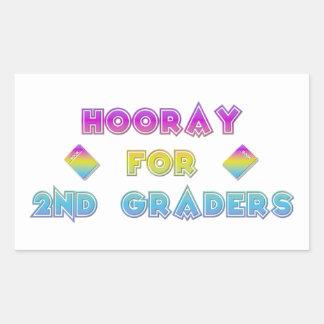 Hooray for 2nd Graders Rectangular Sticker
