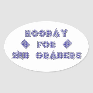 Hooray for 2nd Graders Oval Sticker