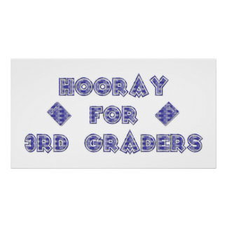Hooray for 3rd Graders Poster