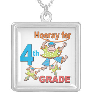 Hooray for 4th Grade Necklace