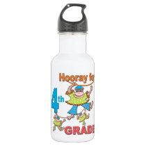 Hooray for 4th Grade Stainless Steel Water Bottle