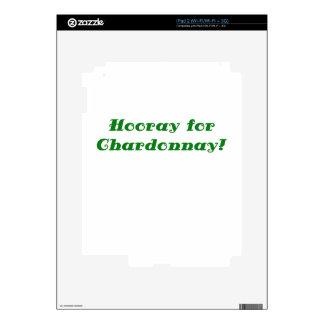 Hooray for Chardonnay Decal For iPad 2