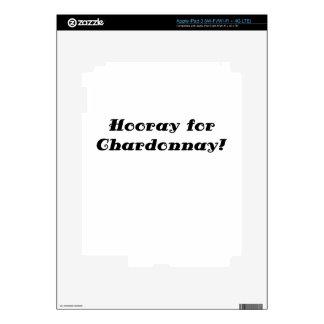 Hooray for Chardonnay iPad 3 Decals