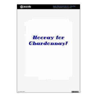 Hooray for Chardonnay iPad 3 Skins