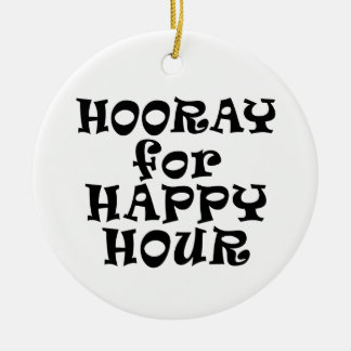 Hooray for Happy Hour Ornament