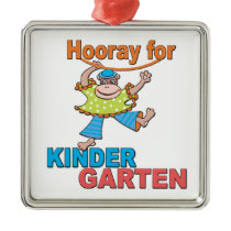 Hooray for Kindergarten Metal Ornament
