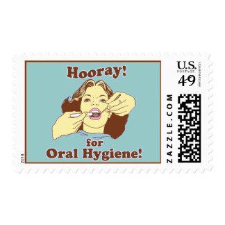 Hooray for Oral Hygiene Retro Stamp