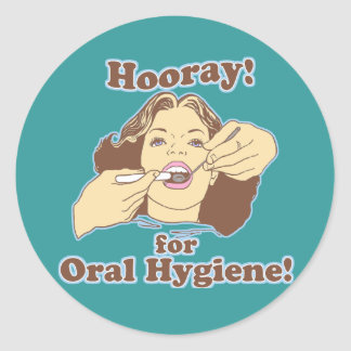 Hooray for Oral Hygiene Retro Sticker