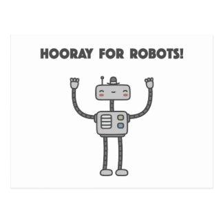 Hooray for robots! postcard