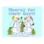 HOORAY For Snow Days! Postcard