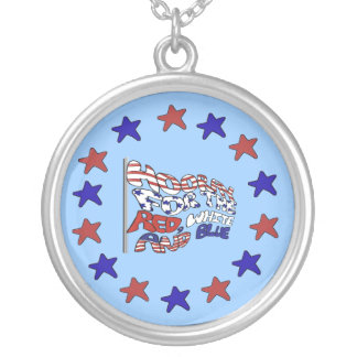 Hooray for Stars and Stripes Flag Necklace