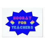 Hooray for teachers! custom invitation