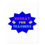 Hooray for teachers! postcard