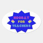 Hooray for teachers! sticker