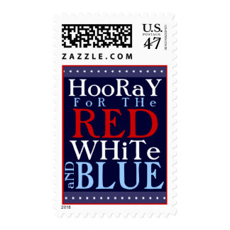 Hooray for the Red White and Blue 4th of July Postage