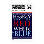 Hooray for the Red White and Blue 4th of July Stamp