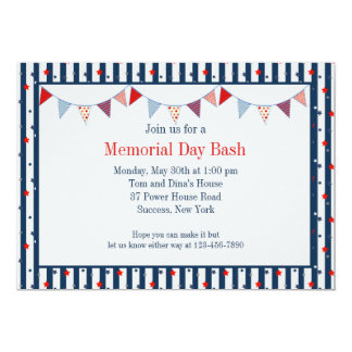 Hooray for the Red, White and Blue Invitation