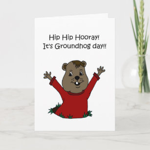 Groundhog day cards zazzle hooray its groundhog day 2 card m4hsunfo