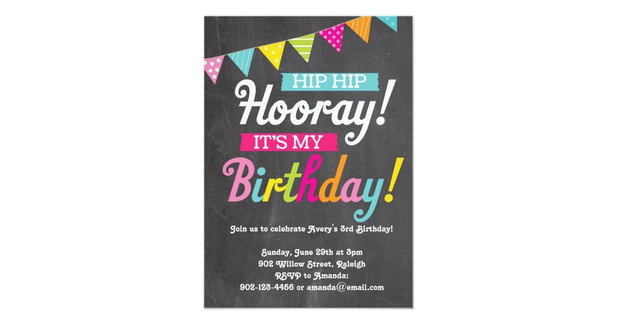 Hooray It 39 S My Birthday Card Zazzle