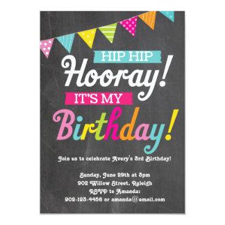 "Hooray It's My Birthday 5"" X 7"" Invitation Card"