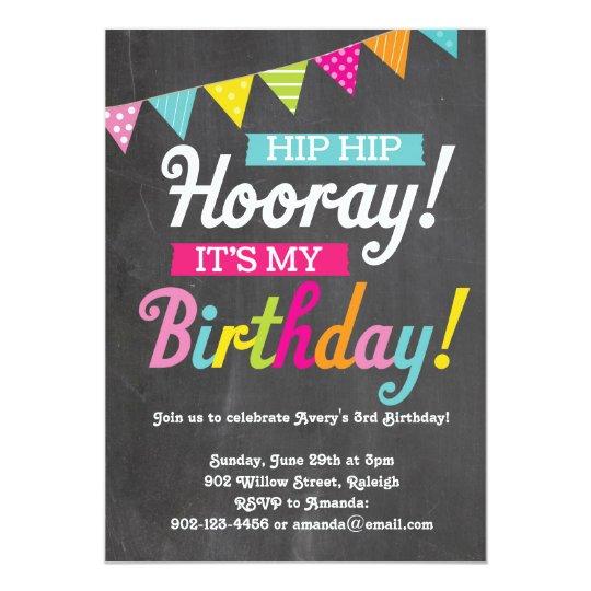 Hooray Its My Birthday Invitation Zazzle