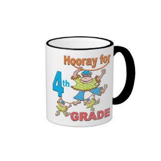 Hooray para el 4to grado taza de café