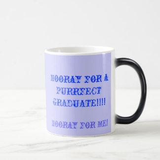 ¡Hooray para el graduado del purrfect! Tazas De Café