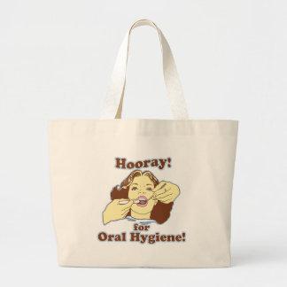 Hooray para la higiene oral retra bolsas lienzo
