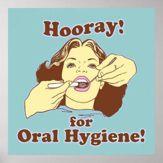 Hooray para la higiene oral retra poster