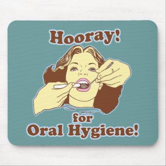 Hooray para la higiene oral retra tapetes de ratón