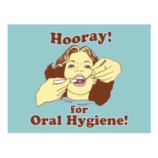 Hooray para la higiene oral retra postales