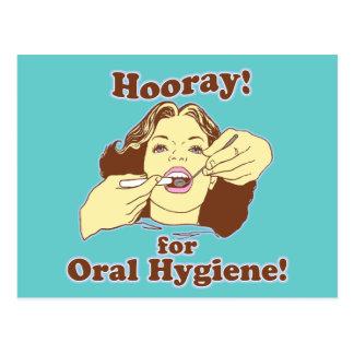 Hooray para la higiene oral retra postal