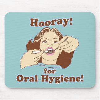 Hooray para la higiene oral alfombrilla de ratones