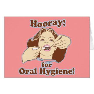 Hooray para la higiene oral tarjetón