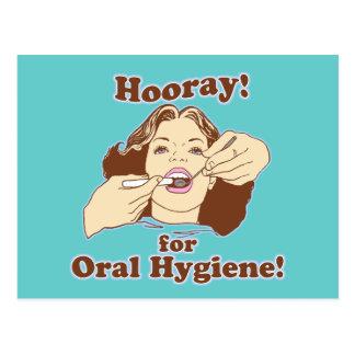 Hooray para la higiene oral postales