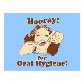 Hooray para la higiene oral postal