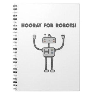 ¡Hooray para los robots! Spiral Notebook