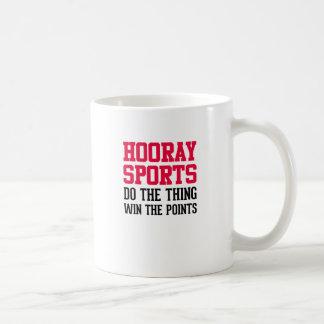 Hooray Sports Classic White Coffee Mug